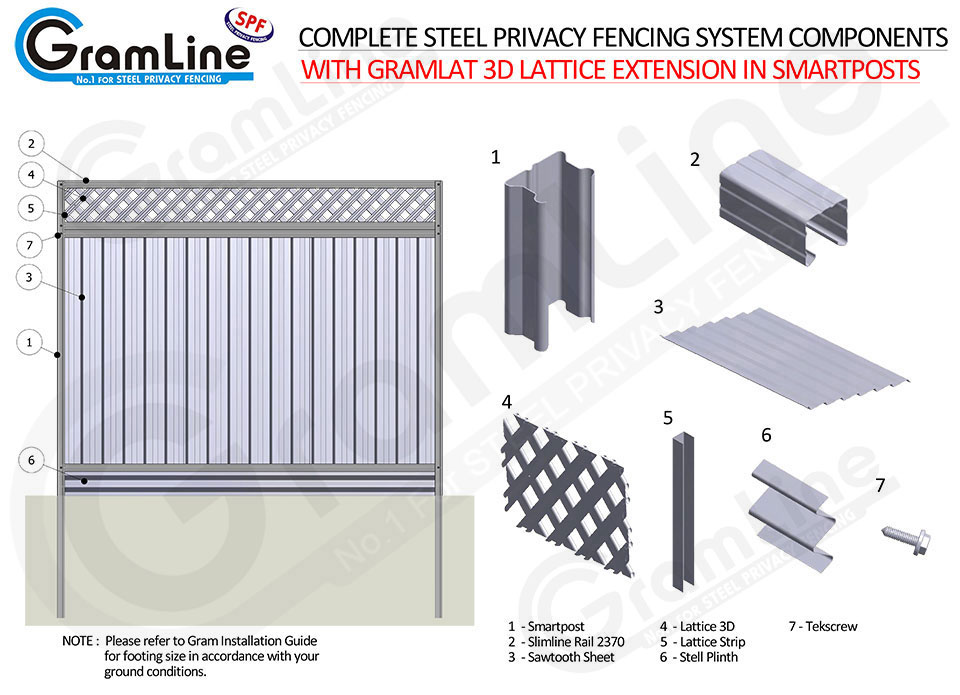 COMPLETE-GRAMLINE-FENCE-LATTICE-PLINTH-ASSEMBLY